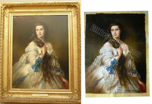 portrait of madame rimsky korsakov franz xaver winterhalter - Oil painting reproduction
