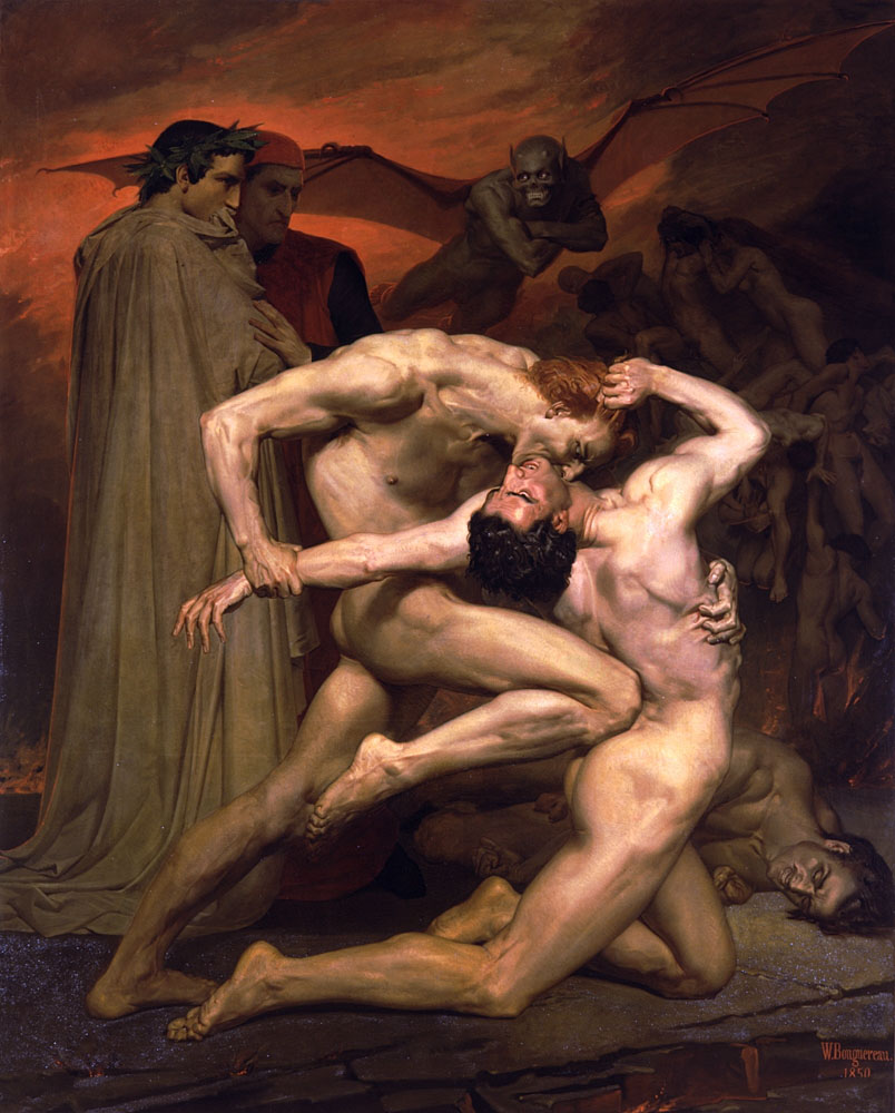 Point. Dante and virgil in hell think